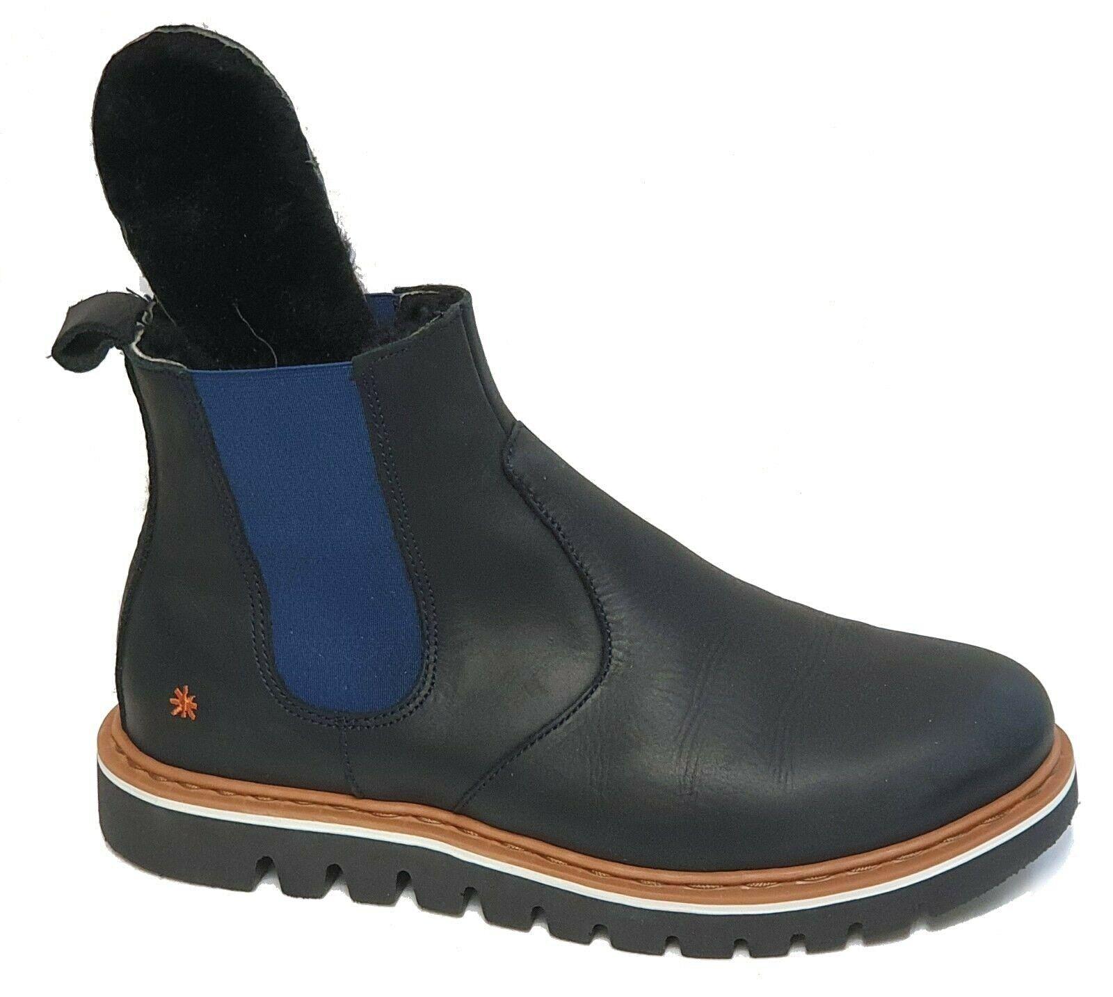 Art Company chelsea bota 1405 toronto grass negro azul original cuero genuino