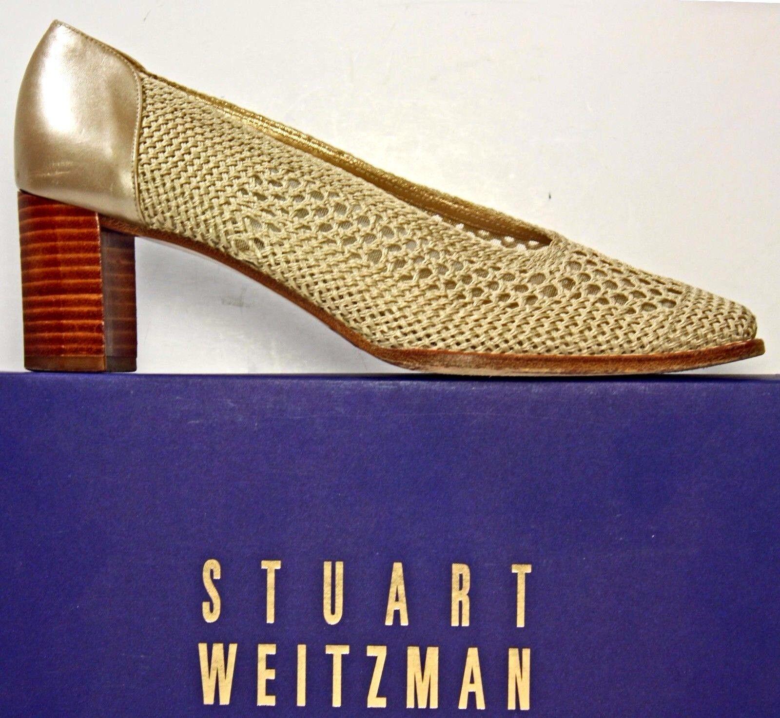 Stuart Weitzman Pumps sz 7 AA or Crocheted Bridal Wedding Evening chaussures