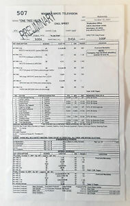 ONE-TREE-HILL-set-used-CALL-SHEET-Season-5-Episode-7