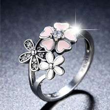 ec53a4835 GENUINE S925 SILVER SHIMMERING BOUQUET RING POETIC BLOOM CHERRY BLOSSOM SIZE  58