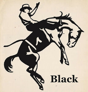 COWBOY Rodeo Decal Car Window Sticker Custom Design Western Tough Guy Rodeo NEW