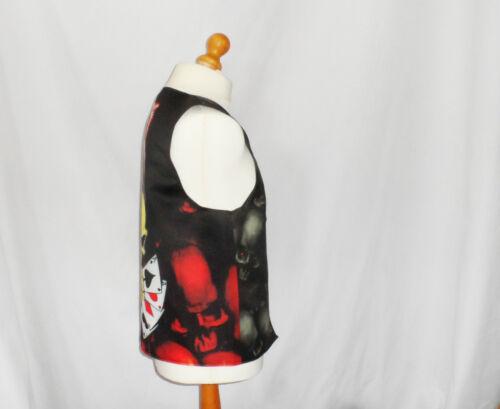 Novelty Waistcoat Grim Reaper Skull Fancy Dress Gift Funny Gift Party Festival