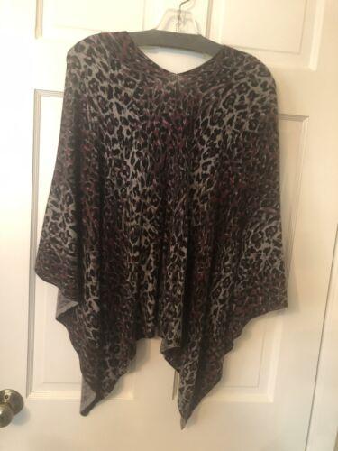 Minni Rose gray, maroon & black leopard print 100%