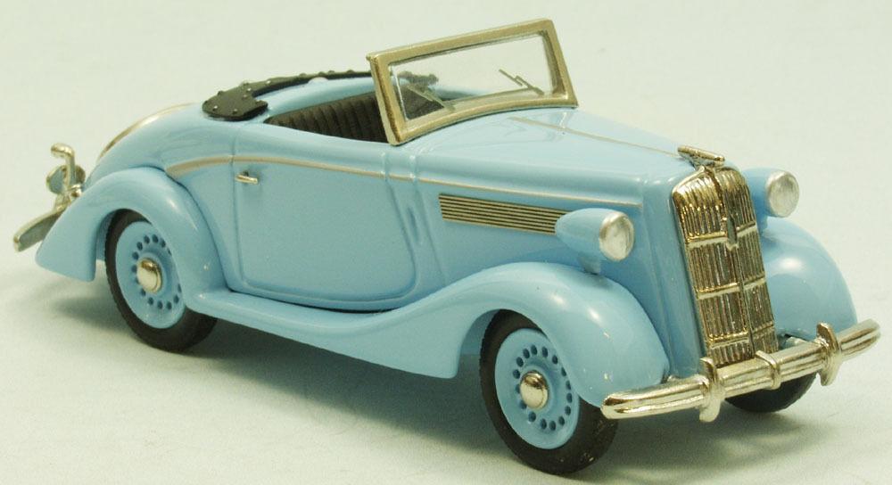 OPEL SUPER 6 Cabriolet  verres  Maquette de voiture travail manuel weissmetall