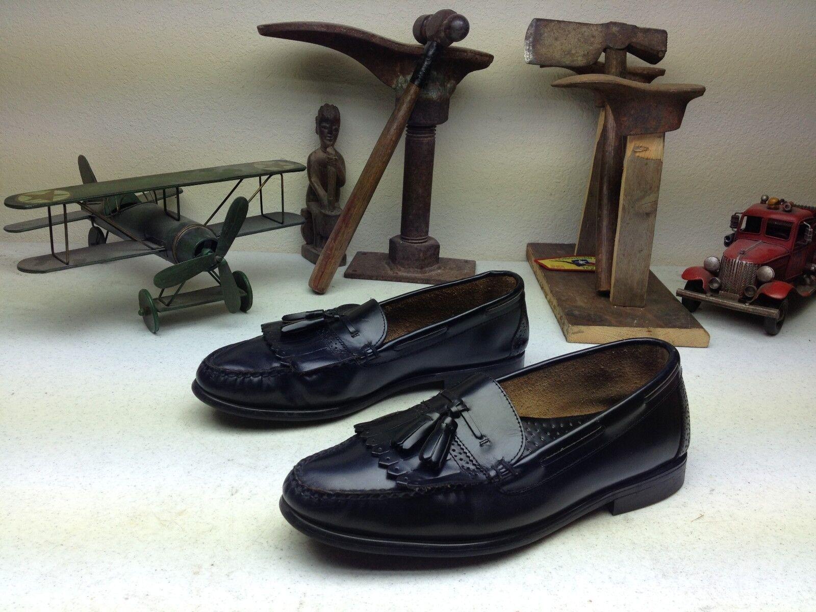 G.H. BASS BROMPTON schwarz LEATHER SLIP ON ON ON KILTIE TASSLE BUSINESS schuhe Größe 10.5M b36a46