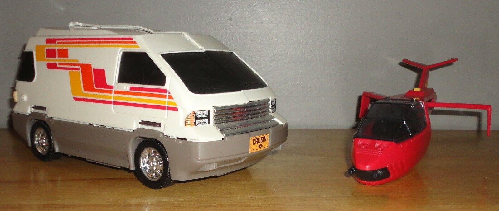 1986 Kenner M.A.S.K. MASK SLINGSHOT Van Vehicle and Jet