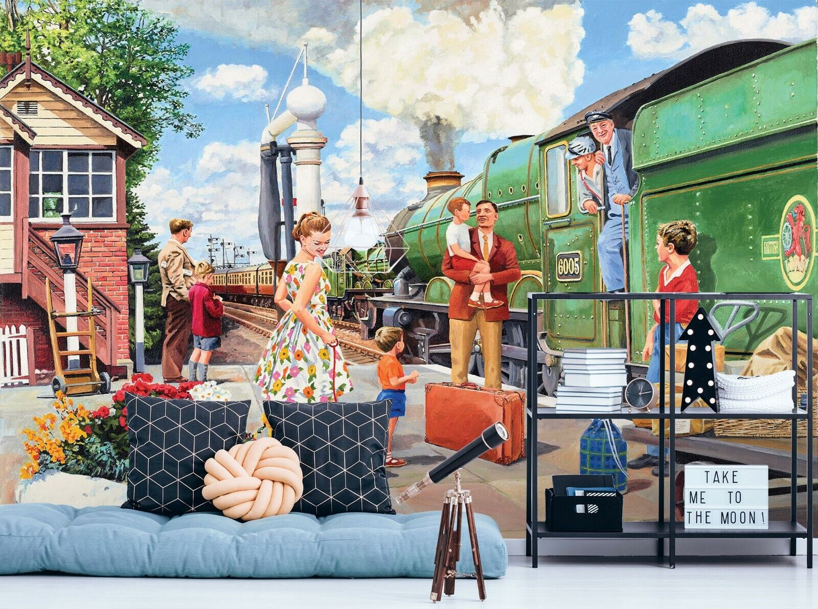 3D Train Driver R670 Wallpaper Mural Sefl-adhesive Removable Trevor Mitchell Amy