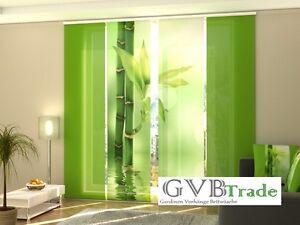 fotogardinen bambus schiebevorhang schiebegardinen. Black Bedroom Furniture Sets. Home Design Ideas