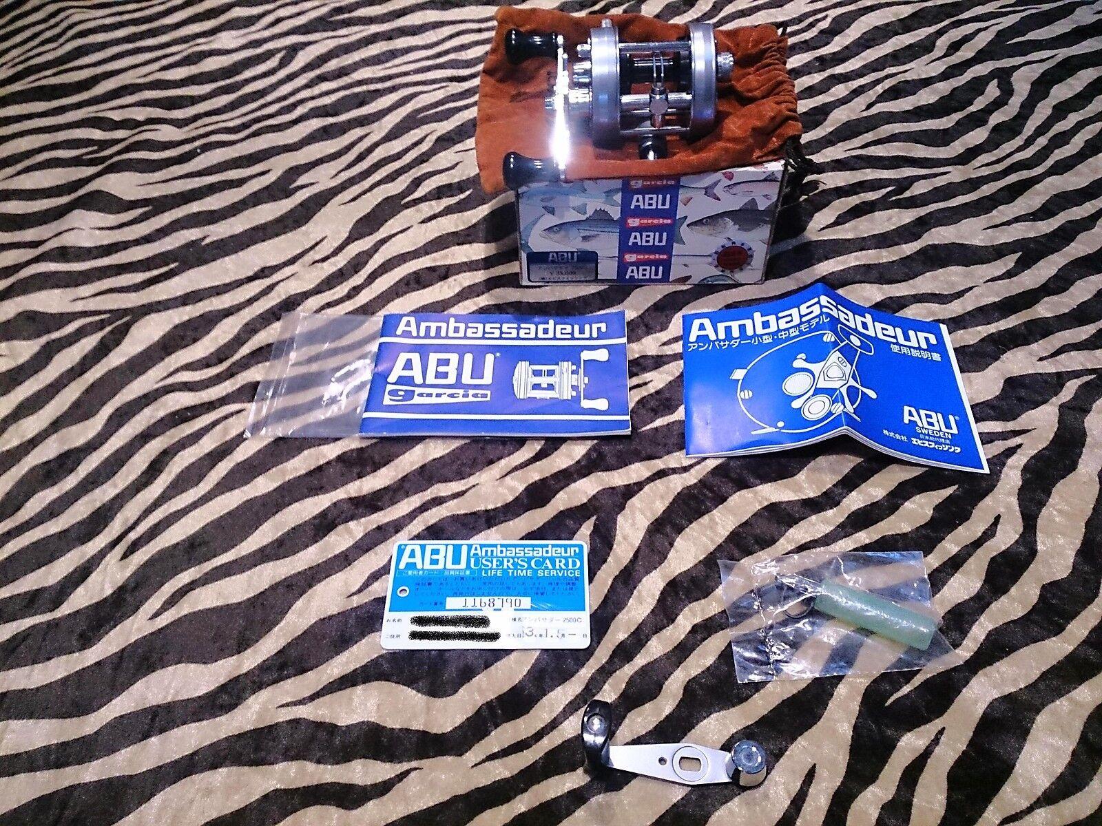 Fsg ABU Ambassadeur 2500c Baitcasting Reel Ebisu Ebisu Reel Japan w/Original box emboss d8cd8e