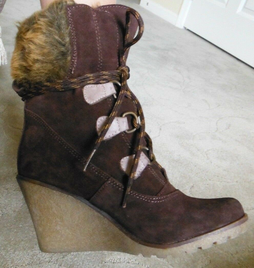 shoes DIEM SD0357 BOOTIE LEATHER boot, size 6 Med- US, 36 - EU , Mango Brown