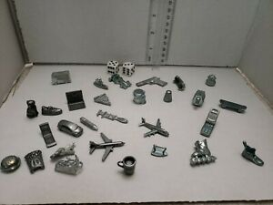 Replacement-Piece-MONOPOLY-Clue-Token-Game-Piece-Vintage-lot-of-31