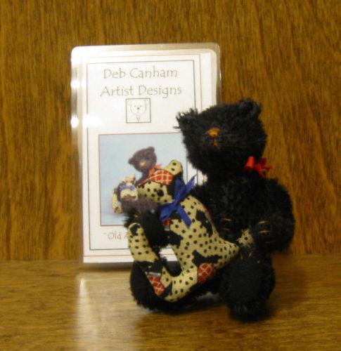 DEB CANHAM Artist Designs Coll. OLD ADAM, Old Friends Coll. 3.75  Mohair w  cat