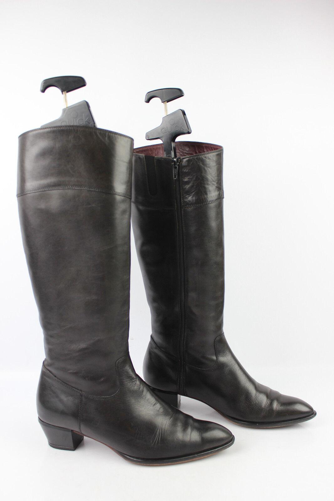 vintage Stiefel caparrini Florenz Vollleder schwarz t 37,5 sehr guter Zustand