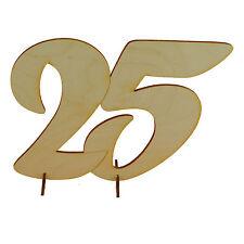 Geburtstag Holzzahl 25 Geschenk 15cm, Hochzeit Jubiläum Aufsteller xxl Tischdeko