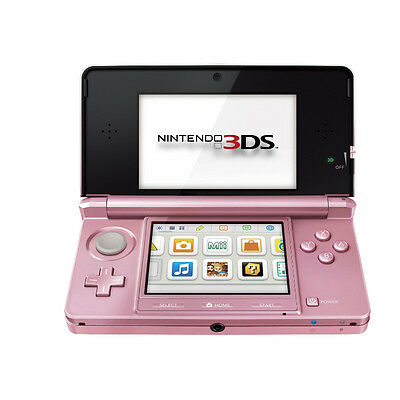 Nintendo 3DS - Pearl Pink Handheld System Very Good Condition