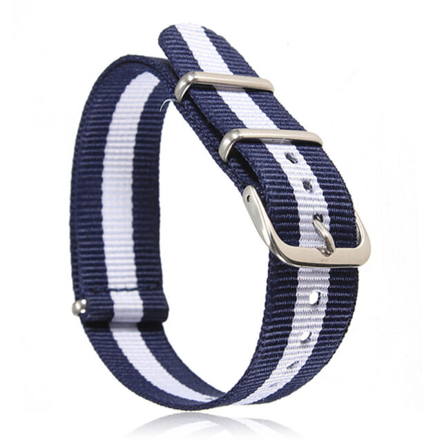 Smart 18mm 20mm Military Nylon Wrist Band Strap for Watch Stainless Steel Buckle