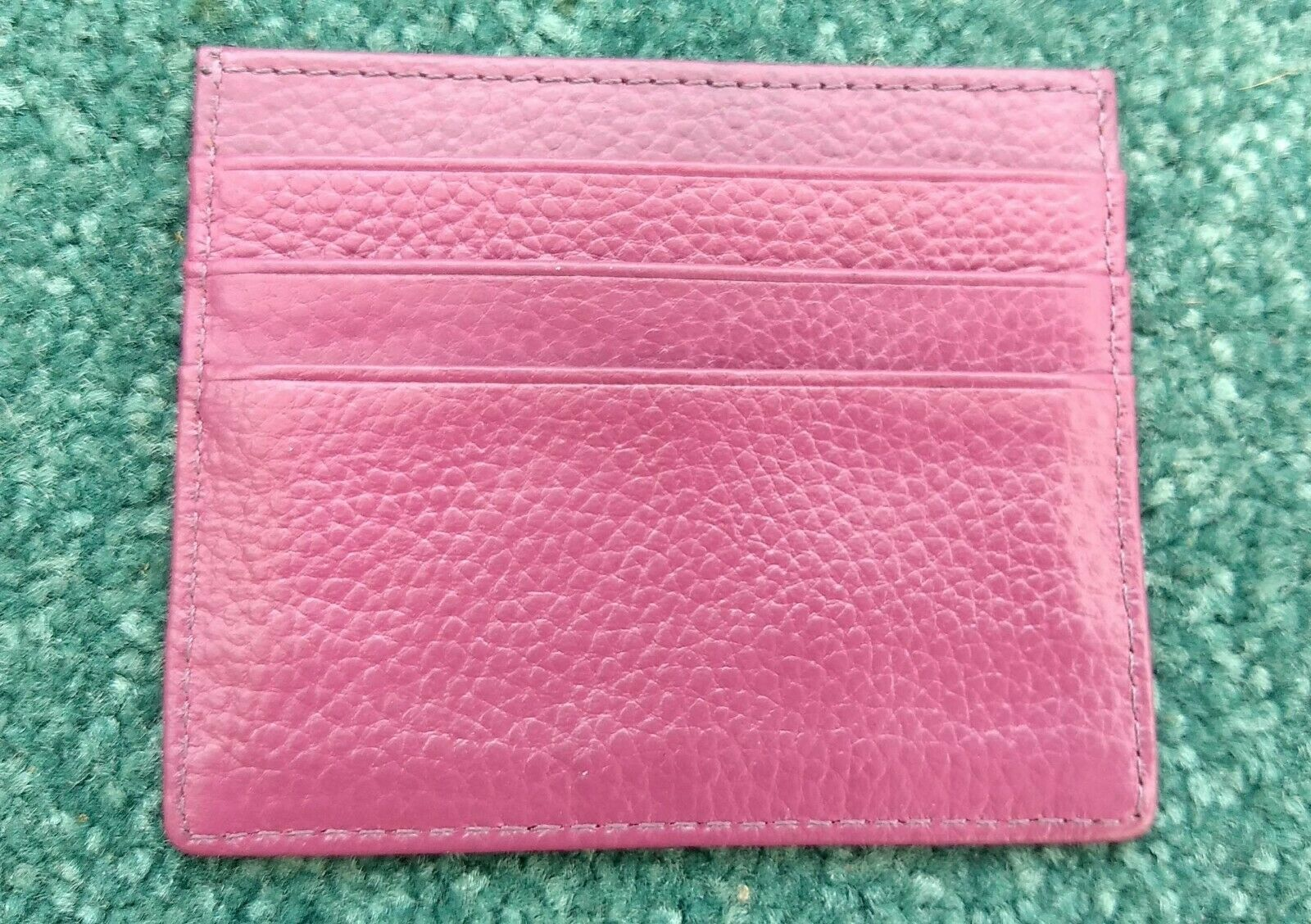 Leather Card / ID / Travelcard Holder compact purple