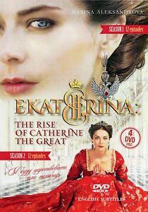 4DVD NTSC CATHERINE / EKATERINA RUSSIAN HISTORY TV SERIES  PART 1, PART 2