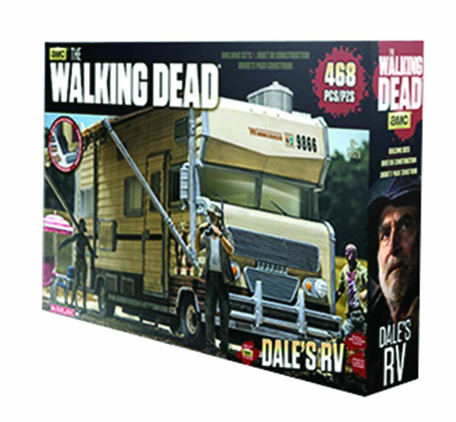 Dale ist wohnmobil walking dead mcfarlane spielzeug bauten den bau neuer gebäude