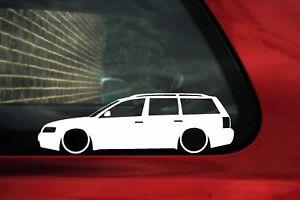 2x Lowered Stickers Auto Aufkleber For Vw Passat B5 Kombi