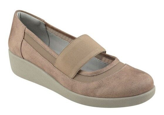 Easy Spirit Karalisa wedge pumps mary janes taupe tan sz 9 Med NEW