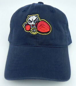 BRADFORD-FIGHTING-SQUIRRELS-SLOUCH-WASHED-UNSTRUCTURED-STRAPBACK-CAP-HAT-NEW
