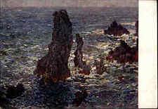 1935 Russland Künstlerkarte Kunst Art Postcard Künstler Claude Monet Les rochers