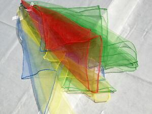 Jongliertuecher-klein-Nylonkrepp-3er-Set-NEU