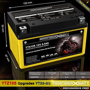 Agm Battery Ytz10s Kawasaki Z250 Sl Z300 Zxr400 Zrx400 Z750 Z800