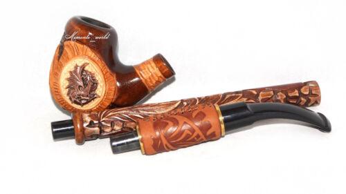 Long Handmade Churchwarden Hookah pipes Metal Dragon Tobacco Smoking Pipe
