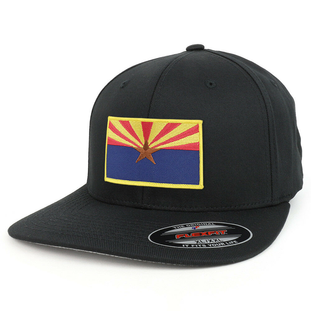 66b7f766d77dc XXL Big On Size Arizona State Flag Iron On Big Patch Flexfit Cap b053e6