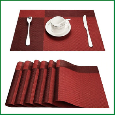 Plastic Placemats Pvc Bamboo Table Mat Sets Tableware For Kitchen Accessories Ebay