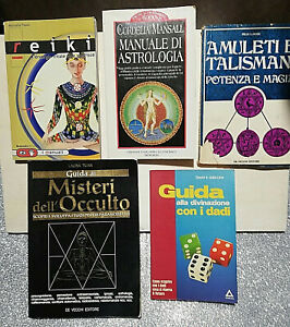 Lotto-5-libri-Stock-Talismani-Astrologia-Reiki-Occulto-Divinazione-Dadi