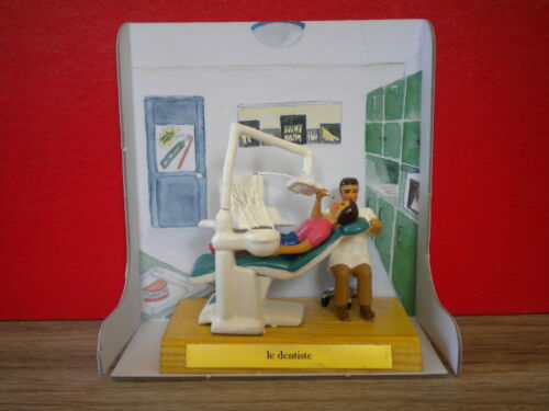 Superb realisation office of dentist with her patient in boxes and props