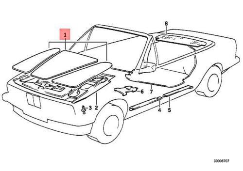 Genuine BMW E30 316 316i 318i 320i 323i 325i Sound Insulation Set 51488103798