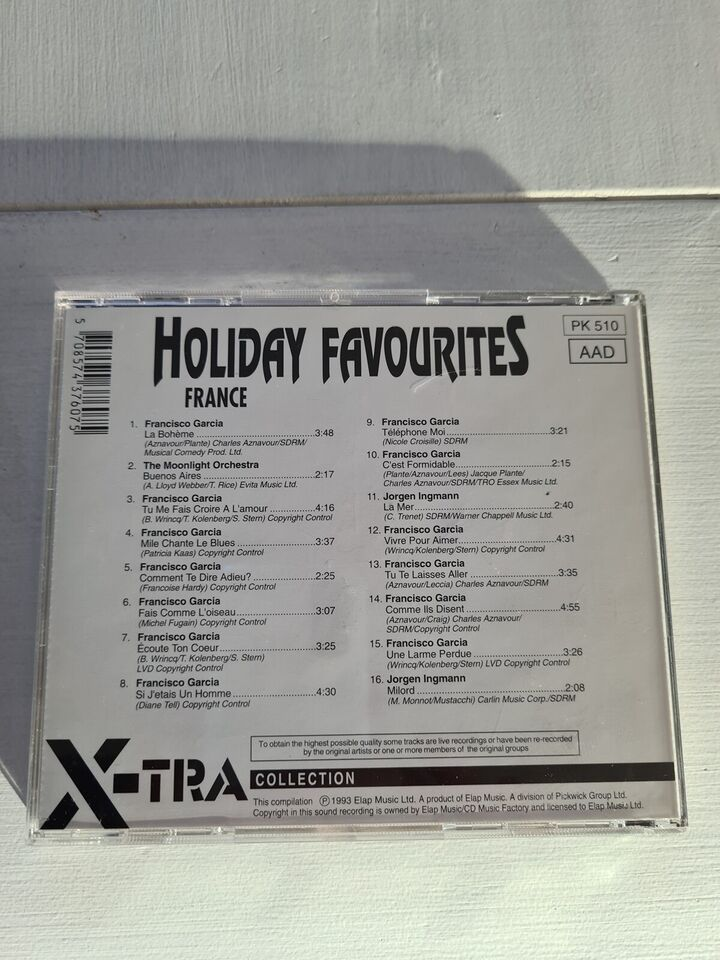 Various / Diverse: 4 CD : Holiday Favourites, andet