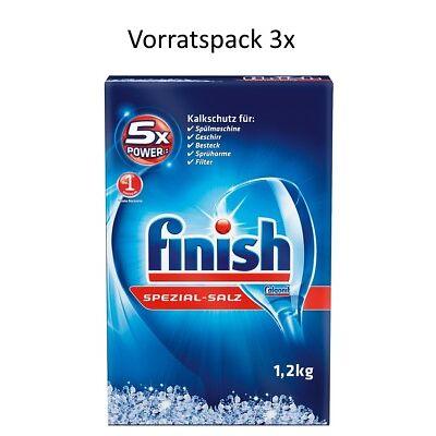 Finish Spezialsalz 3er Pack 3,6 kg Spülmaschinensalz Kalkschutz Geschirrspülsalz