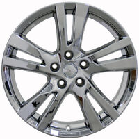 Set (4) 18x7.5 Fits Nissan Altima Chrome Replica Wheels Rims 18 Infiniti
