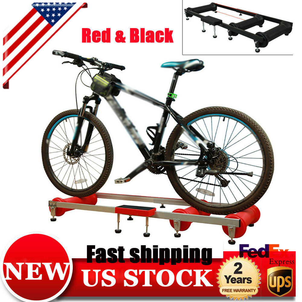 Aluminum Roller Bike Bicycle Indoor Ride Cycling Trainer NEW Training Rollers