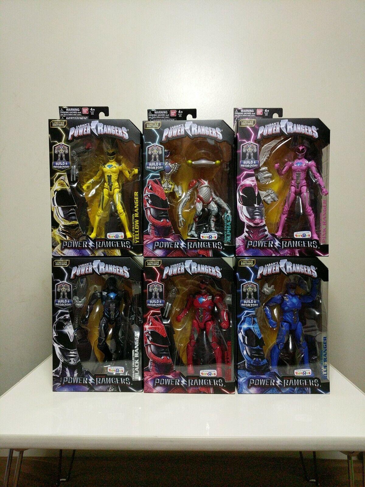 2017 Power Rangers Movie Figure set