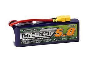 RC-Turnigy-nano-tech-5000mah-3S-65-130C-Lipo-Pack-w-XT-90