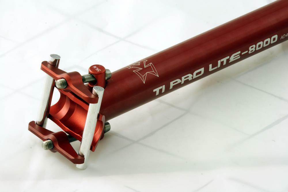KCNC Ti Pro  Scandium Seatpost Ti Bolts 27.2x400mm Red  on sale 70% off