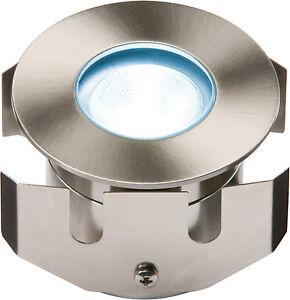Knightsbridge 1w Blue Low Voltage 12v Led Stainless Steel Decking Walkover Light