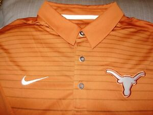 7911f20f Details about Texas Longhorns NIKE Dri Fit Early Season Burnt Orange Polo  Golf Shirt Men's 3XL