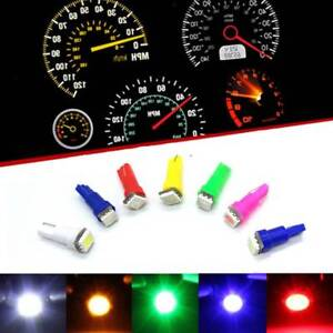 10PCS-T5-1-SMD-5050-Dashboard-Wedge-1-LED-Car-Light-Lamp-Instrument-Lights