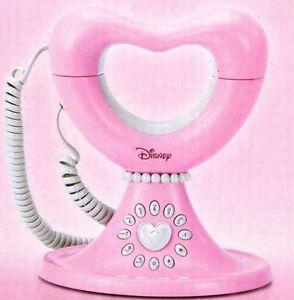 Pink Memorex Disney Princess Home Phone, Heart Design Corded Telephone - Girls'