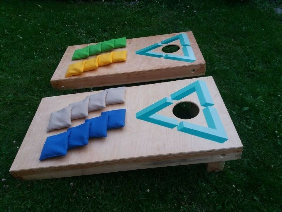 2 cornhole spil inklusiv 8 poser, Cornhole , udendørsspil