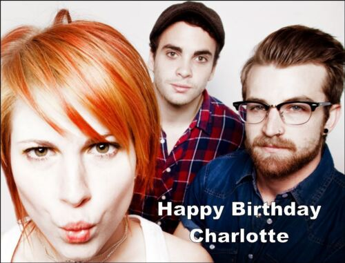 A4 paramore band edible icing birthday cake topper