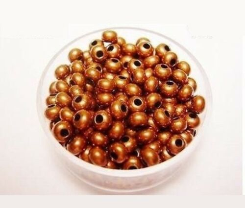 72 PCS 4.8 MM SOLID COPPER VINTAGE RONDELLE BEAD