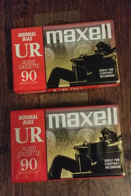 2 New unopened cassette tapes - blank Maxell 90 min each